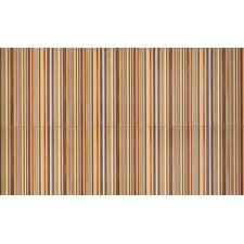 "Aquarelle 12"" x 18"" Ceramic Wall Tile in Red Insert Stripes"