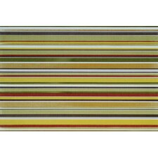 "Aquarelle 12"" x 18"" Ceramic Wall Tile in Green Insert Stripes"