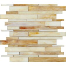 "<strong>Marazzi</strong> Catwalk 12"" x 12"" Random Glass Mosaic in Toffee Tennies"