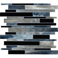 "<strong>Marazzi</strong> Catwalk 12"" x 12"" Random Glass Mosaic in Steel Toe"