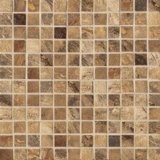 "Jade 1"" x 1"" Decorative Square Mosaic in Chestnut"