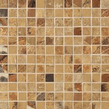 "Jade 1"" x 1"" Decorative Square Mosaic in Ochre"