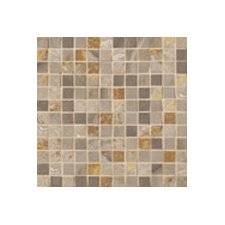 "Jade 1"" x 1"" Decorative Square Mosaic in Taupe"