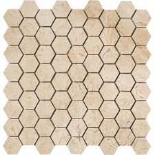"Timeless Collection 1-3/4"" x 1-1/2"" Hexagon Mosaic in Marfil Cream"
