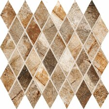 "Vesale Stone 13"" x 13"" Decorative Diamond Mosaic in Rust"