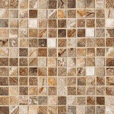 """Vesale Stone 1"""" x 1"""" Decorative Square Mosaic in Rust"""