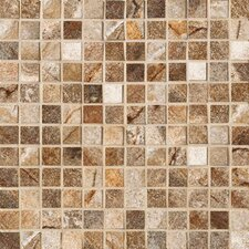 "Vesale Stone 13"" x 13"" Decorative Square Mosaic in Rust"