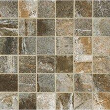 """Vesale Stone 2"""" x 2"""" Decorative Square Mosaic in Moss"""