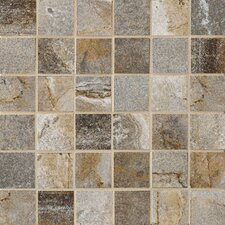 "Vesale Stone 13"" x 13"" Decorative Square Mosaic in Smoke"