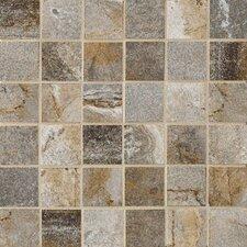 "Vesale Stone 2"" x 2"" Porcelain Stoneware Glazed Mosaic in Smoke"