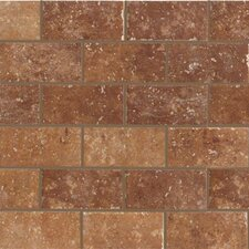 "Walnut Canyon 4"" x 2"" Decorative Brick Mosaic in Umber"