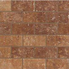 """Walnut Canyon 4"""" x 2"""" Porcelain Stoneware Unpolished Mosaic in Umber"""