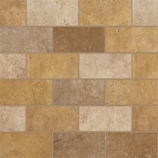 "Walnut Canyon 4"" x 2"" Decorative Brick Mosaic in Golden"