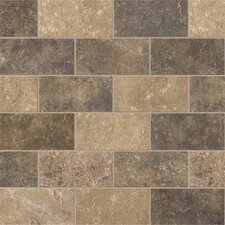 "Walnut Canyon 4"" x 2"" Decorative Brick Mosaic in Multi"