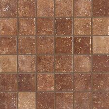"Walnut Canyon 13"" x 13"" Decorative Square Mosaic in Umber"
