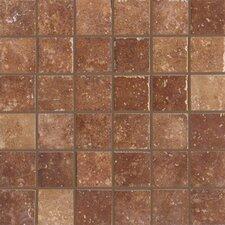 """Walnut Canyon 2"""" x 2"""" Porcelain Stoneware Unpolished Mosaic in Umber"""