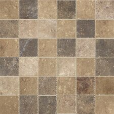 "Walnut Canyon 2"" x 2"" Porcelain Stoneware Unpolished Mosaic in Multi"