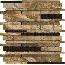 "<strong>Marazzi</strong> Archaeology 12"" x 12"" ColorBody Porcelain Strip Mosaic in Chaco Canyon"