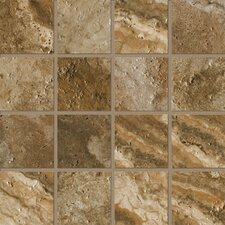 """Archaeology 3"""" x 3"""" ColorBody Porcelain Stoneware Glazed Mosaic in Chaco Canyon"""