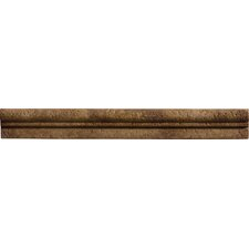 "Romancing the Stone 13"" x 1.5"" Compressed Stone Chair Rail Tile Trim in Noce"