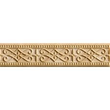 "Romancing the Stone 13"" x 3"" Compressed Stone Renaissance Border Tile Trim in Ivory"