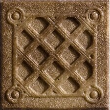 """Romancing the Stone 2"""" x 2"""" Compressed Stone Weave Insert in Noce"""