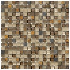 Crystal Stone II Glass Frosted Mosaic in Terracotta