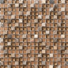 "Crystal Stone 12"" x 12"" Glass/Stone Mosaic in Walnut"