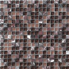 "<strong>Marazzi</strong> Crystal Stone 12"" x 12"" Glass/Stone Mosaic in Purple"
