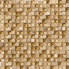 """Crystal Stone 1.5"""" x 1.5"""" Glass Mosaic in Gold"""