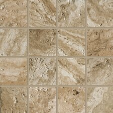 """Archaeology 3"""" x 3"""" ColorBody Porcelain Mosaic in Babylon"""