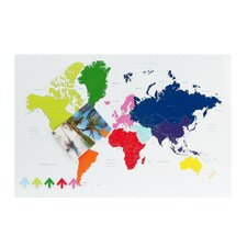 World Map Memo Board