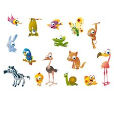 """Crazy Animals"" Wall Sticker"