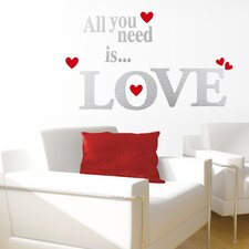 "<strong>Eurographics</strong> ""All You Need Is Love"" Wall Sticker"