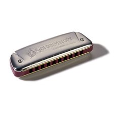 Golden Melody Harmonica in Chrome - Key of F#