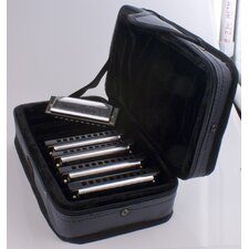 Special 20 Harmonica Case in Chrome - Key of C, G, A, D, E