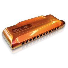 <strong>Hohner</strong> CX-12 Jazz Harmonica in Red and Gold - Key of C