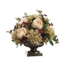 Peony / Hydrangea / Pompon Rose in Urn