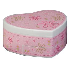 Ruby Girl's Glitter-Daisy Musical Ballerina Jewelry Box