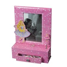 Paige Girl's Musical Ballerina Photo Frame Jewelry Box