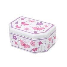 Kelsey Girl's Glitter-Fly Musical Ballerina Jewelry Box