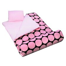 Big Dots Sleeping Bag in Pink