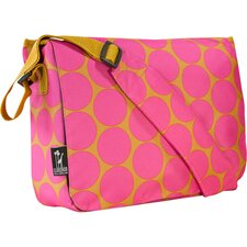 Big Dots Hot Pink Kickstart Messenger Bag