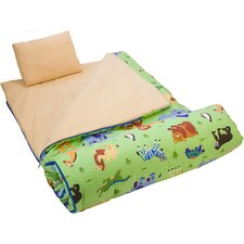 <strong>Wildkin</strong> Olive Kids Wild Animals Sleeping Bag in Green