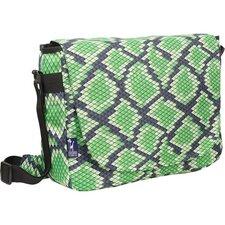 Snake Skin Laptop Messenger Bag