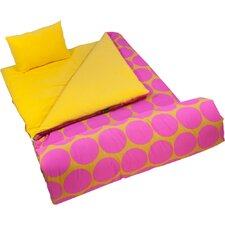 Big Dots Hot Pink Sleeping Bag