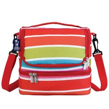 Ashley Bright Stripes Double Decker Lunch Bag