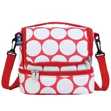 Ashley Big Dot Double Decker Lunch Bag