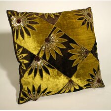 Black Gold Patterned Cushion Cover