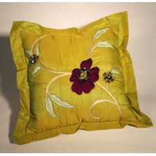 Green Floral Cushion Cover
